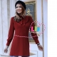 تونیک دخترانه زنانه طرح حلما رنگ زرشکی