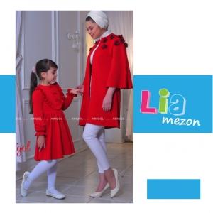 ست-مادر-و-دختری مدل-ژالین-قرمز (2)