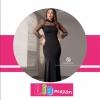 پیراهن مجلسی بلند زنانه مدل لورا مشکی