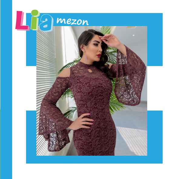 پیراهن مجلسی زنانه مدل مونیکا-زرشکی